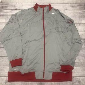 Nike Flight Knit Jacket Silver Red Nike Fi…